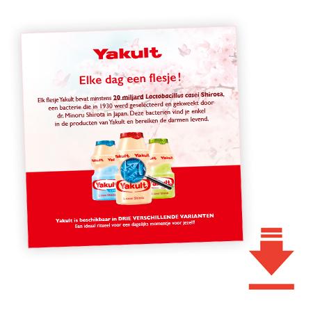 Yakult, elke dag een flesje!